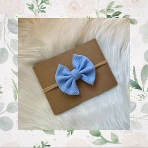 Baby Blue Clip In or Bow On Nylon